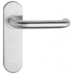 Fireproof Door Fittings without a Hole INOX, 170x45mm