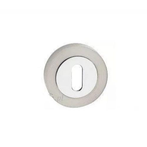 escutcheon BB round, chrome+nickel