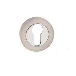 escutcheon PZ round, chrome+nickel