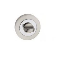 escutcheon WC round, chrome+nickel