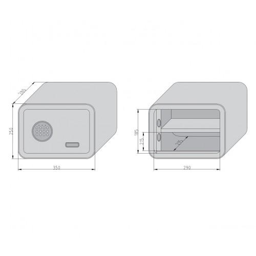 escutcheon BB square, chrome