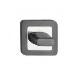 escutcheon WC square, graphite