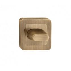 escutcheon WC square, patina