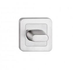 escutcheon WC square, silver