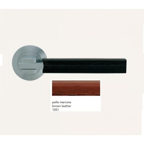 Door handle ELLE PELLE Satin chrome